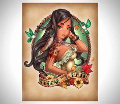 princesas disney modernas tatuadas - Buscar con Google