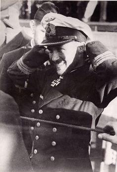 Kapitänleutnant Wilhelm Rollmann decorated with Knigt's Cross after returning from his patrol