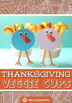 Thanksgiving Veggie Cups