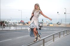 Light Grey Color Cotton Canvas Long Frock Vest with Big Hood with Shipibo Patterns