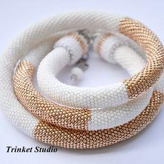 Beads crochet rope.Toho 15/0 #TrinketStudio, #beading