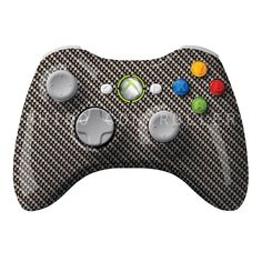 XBOX 360 controller Wireless Glossy WTP-155-Black-Carbon-Fiber-Weave Custom Painted- Without Mods