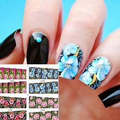 4 Patterns Gorgeous Colored Floral Nail Water Decals Flower Patterned Transfers Sticker Manicure Nail Art Decoration #Manicures Nail http://www.ku-ki-shop.com/shop/manicures-nail/4-patterns-gorgeous-colored-floral-nail-water-decals-flower-patterned-transfers-sticker-manicure-nail-art-decoration/
