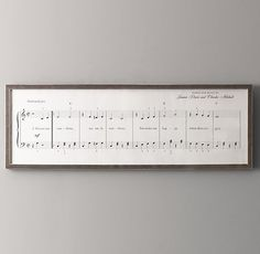 You Are My Sunshine Sheet Music Art // Restoration Hardware Baby // It's next to impossible to see this framed piece without singing along. First recorded in this popular song is captured note for note in an exact reproduction of traditional sheet m
