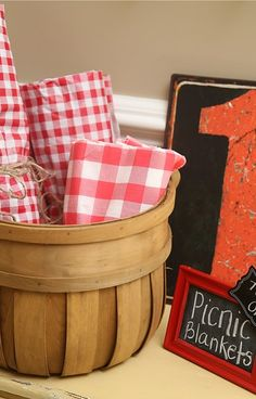 Take a picnic blanket at a Picnic Birthday Party!  See more party planning ideas at CatchMyParty.com!