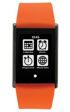 Touch Time Digital Watch with Orange Silicone Band Orange Band, Orange Color, Digital Watch, Touch, Watches, Small Things, Exhibitions, Clocks, Mood