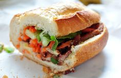 Omg...what I would do for some banh mi xa xiu right now!!
