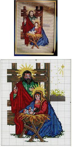 solo esquemas punto de cruz: nacimiento                                                                                                                                                      Más