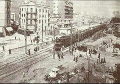 1923. Pas a nivell a la Meridiana a El Clot de Barcelona