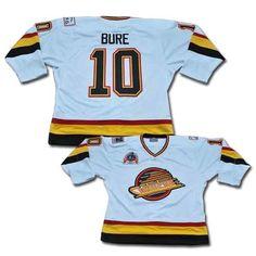 efd3c71eb82 Authentic Pavel Bure White Men's NHL Jersey: #10 Throwback Vancouver  Canucks CCM Vintage Nhl