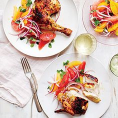Four Citrus-Herb Chicken Recipe | CookingLight.com #myplate, #protein