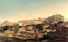 """""""Παρθενώνας"""" του Edward Dodwell,  1821. """"Parthenon"""" by Edward Dodwell, 1821."""