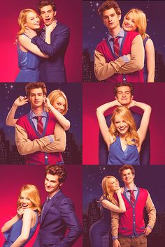 Emma Stone and Andrew Garfield.Best couple ever.Like ever.Too much crazyness for one pic.:))