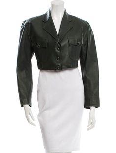 Alaïa Leather Cropped Jacket