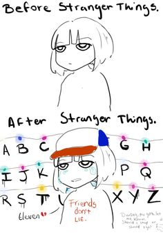 Before v.s. After Watching Stranger Things