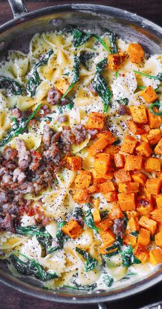 Vegetarian Recipes, Cooking Recipes, Healthy Recipes, Butternut Squash Pasta, Healthy Butternut Squash Recipes, Butternut Squash Enchiladas, Squash Soup, All You Need Is, Planning Menu