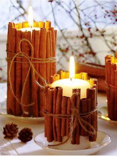 Beautiful Christmas Decoration With Cinnamon Sticks