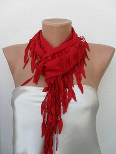 Hot Red scarf