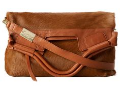 Pony hair and leather bag from Foley & Corinna. #accessories #zappos