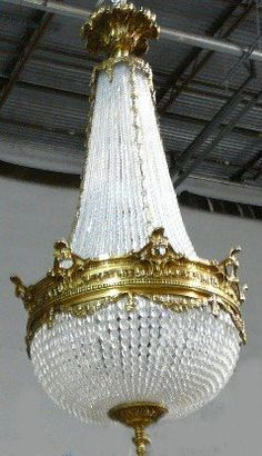 Empire Style Beaded Crystal Chandelier