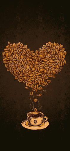Love Coffee Wallpaper 1242X2688