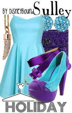 This Sully outfit is perfect for a Monster ball! | Disney Fashion | Disney Fashion Outfits | Disney Outfits | Disney Outfits Ideas | Disneybound Outfits |  Monsters Inc. Outfit | Monsters University Outfit |