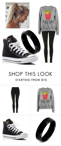 """""""FRIDAY"""" by griffithk ❤ liked on Polyvore featuring Topshop, Adolescent Clothing, Converse and West Coast Jewelry"""