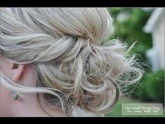 Twisted Updo - #twistedhair #hairstyle #updo #hair #thesmallthingsblog - bellashoot.com