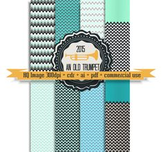 11 promo Chevron Mint digital paper 08: zigzag by AnOldTrumpet