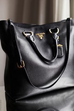 Prada, Calf Leather Tote Bag.