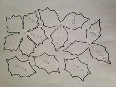 Поделка из фетра «Цветок «Рождественская звезда. Пуансетия». Воспитателям детских садов, школьным учителям и педагогам - Маам.ру