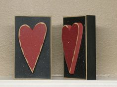 TALL BLOCK HEART for valentine and home decor by lisabees on Etsy, $7.95