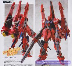 GUNDAM GUY: 1/144 Mega Shiki Amazing + Vrabe Amazing Lev A + D Parts - Customized Build