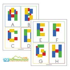Preschool Rules, Free Preschool, Preschool Printables, Abc Cards, Alphabet Cards, Printable Alphabet Letters, Abc Alphabet, Lego Printable Free, Free Printable Alphabet Templates