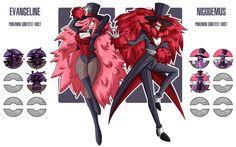Fakemon: Contest Hosts - Nicodemas and Evangeline by MTC-Studio