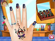 Zoe Nail Salon    Girls, wanna remarkable nails? Makeover now!! Make your own manicure designs.Choose from loads of polish color, select sparkling rhinestones, crystals, diamonds, gemstones, pearls, stickers, patterns, and much much more to decorate your nails. Use mouse to interact  http://ezarcade.net/games/zoe-nail-salon/