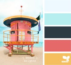"Beach Brights - Hollis, check out this pinner's board ""paint chip perfection"". She has tons of inspiration for color schemes."