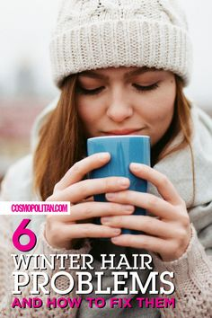 HOW TO FIX WINTER HAIR PROBLEMS: There are ways to beat bad hair days when the weather is less than appealing. Here are some of the most common winter hair woes and how to fix them. Click through to learn how to fix dry hair, hair static, split ends, matted hair, a dry and itchy scalp, and hat hair. Find more hair ideas, tips, and inspiration at Cosmopolitan.com.