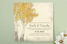 Fall Tranquility Wedding Invitations by Jenifer Martino at minted.com  change colors to be customized