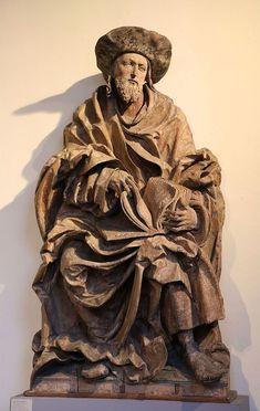 Hans Leinberger: Hl. Jakobus oder Jodokus, um 1525, Lindenholz, Farbfassung verloren, Bayerisches Nationalmuseum in München