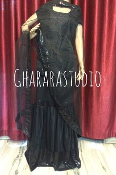 Black Net Gharara with sequence border at Gharara & dupatta. Shimmer dupatta.   Deliver complete stitched. Deliver Worldwide  #gharara #ghararastudio #fashion #instafashion #black #blackgharara #netgharara #gharara4girls #partygharara #womeninblack #ghararagirl #ghararadesign #bridalgharara #instapic #instalove #instafashion #fashionable #fashiongram #fashionista #fashiondiaries #fashionstyle #fashionaddict #fashionpost #fashionlovers #fashionstylist #fashionblogger