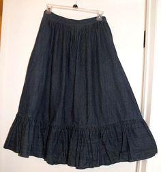 Vintage 1980s SASS Cotton DENIM Modest by ClothesClosetBoutiq,
