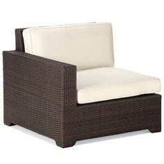 Palermo Left-facing Chair with Cushions in Bronze Finish