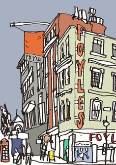 London's Urban Sketchers exhibit at Foyles bookshop  urbansketchers-london.blogspot.com