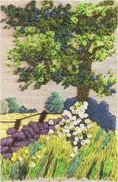 cuadro ..paisaje bordado
