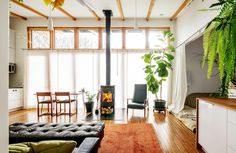 Own Less, Live More - NYTimes.com. 724sf custom home allows white collar professional owners to focus their energy and finances elsewhere. The entire house can be vacuumed in five minutes. Great room multipurpose living space.