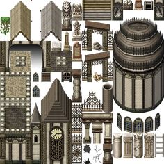 Image result for rpg maker tilesets Rpg Maker Vx, Dots Game, Pixel Art Games, Game Assets, Map Design, Sprites, Drawing Techniques, All Art, Tiles