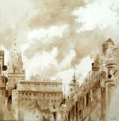 Spanish Painters, Watercolor Art, Painter, Drawings, Painting, Oil Painting, Abstract Artwork, Art, Architecture Painting