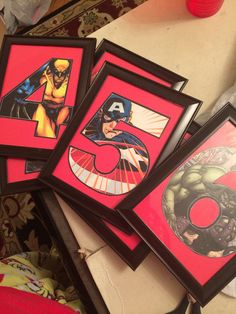 Superhero Themed Party! Table numbers my sister created! #table #party…