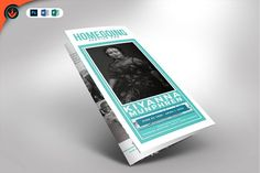 Turquoise Tri-Fold Funeral program by SeraphimChris